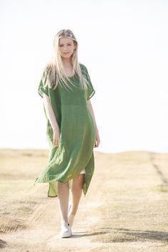 Bronte Kaftan | Lichen Gauze Fabric Flower Brooch, Fabric Flowers, Kaftan, Oxford Blue, Gauze Fabric, Layered Look, Short Sleeve Dresses, Style Inspiration, Sunday