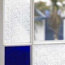 Clear Filigree, Decorative Window Film & Frosted & Decorative Window Film from Brume Ltd Glass Garage Door, Sliding Glass Door, Antique French Doors, Exterior Door Colors, Stained Glass Window Film, Front Door Makeover, Ceramic Door Knobs, Window Films, Glass Bathroom