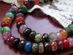 Multi Colored Glass strand beads by BuyDiy on Etsy, $8.00