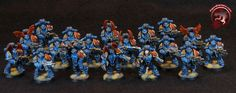 40k - Night Lords Chaos Space Marines in Mark 2 Power Armour by Figurepainters.com
