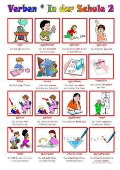 German grammar - School verbs 2 Source by Foreign Language Teaching, German Language Learning, Study German, Learn German, German Grammar, German Words, German Resources, Action Words, Grammar School
