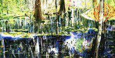 "Erdle - Afternoon Sounds, Barataria, New Orleans, LA, Jean Lafitte National Park 22"" x 18"" 1999"