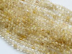 Rutilated Gold Quartz Plain Round Balls Gold by gemsforjewels