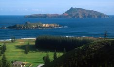 View across to Nepean Island (foreground) and Phillip Island ◆Norfolk Island - Wikipedia http://en.wikipedia.org/wiki/Norfolk_Island #Norfolk_Island