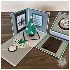 Stampin' Up! - Weihnachts-Explosionsbox - Bellas Stempelwelt - Explosionsbox mit Christbaum, Geldgeschenk zu Weihnachten