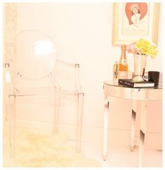 Lucite Chair Glam Interior Pink Interior