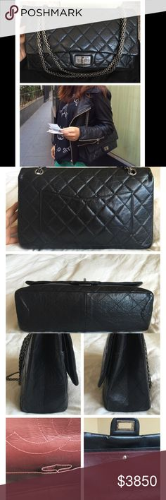 Chanel reissue 2.55 silver 227 Some minor scuffs inside and indentation  where chain touch. Exterior 6936a39c38e