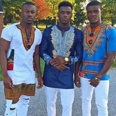 African Style Dashiki #SHIRT + White #DISTRESSED #JEANS