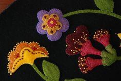 Apliques de lana alfombra penny patrón & o por HorseAndBuggyCountry