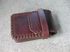 Leather Cigarette Case Handmade by ShoalCreekLeather on Etsy