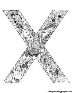 x-animal-alphabet Auf dailycoloringpages.com http://www.pinterest.com/source/dailycoloringpages.com/