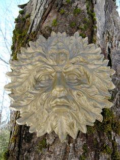 Garden Green Man Concrete Cement  Face by WestWindHomeGarden, $19.95