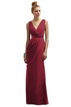 Claret colored dress for the mother of the bride Lela Rose style LR174