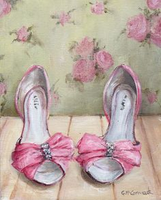 ellies-pink-shoes-painting
