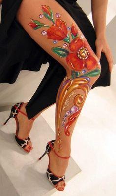 Fileteado - body painting