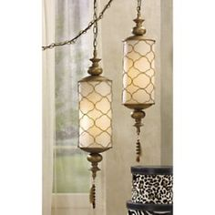Gold Moroccan lamp