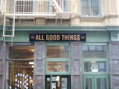 All Good Things is like Tribeca's own miniature Chelsea Market. All Good Things is great for curious foodie feet big and small, but strollers will block the entrance and create major traffic inside. There's no seating here, so take your goods outside to the perfect stoop for pint-size people in front of the large window.
