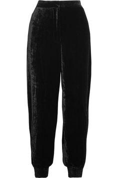 Stella McCartney - Velvet Track Pants - Black