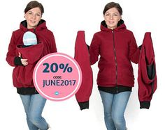 26e4512be345c MIA 3in1 Babycarrying jacket Maternity Pregnancy Baby Bjorn, Baby Up,  Hoodie Jacket, Bomber