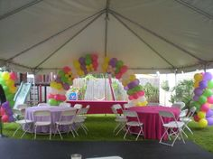 1000 images about tent outdoor decor on pinterest for Baby shower canopy decoration