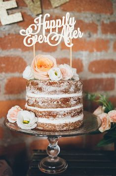 """""""Happily Ever After"""" cake topper by Bash & Co."""
