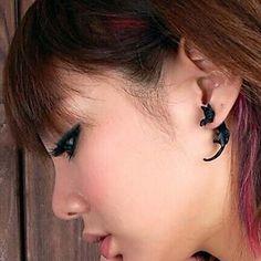 boucles d'oreilles personnalité longue queue de chat haras (1pc) – EUR € 1.79
