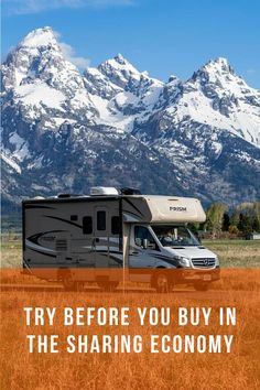 Use the sharing economy to try out #RVLife, a new car, or even a city to move to before you make a big debt commitment that will last for years.    #RVshare #RVSummer #RVThisSummer #ComeBacktoTravel #summertravel #roadtrip Us Travel Destinations, Rv Travel, Summer Travel, Family Travel, Rv World, Sharing Economy, Rv Rental, United States Travel, Rv Life