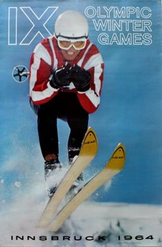 Olympic Winter Games in Innsbruck 1964 - original vintage poster by Fred Lindholm listed on AntikBar.co.uk