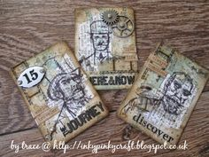 A Vintage Journey: Challenge 13 - A Little Touch of Tim - ATCs only!