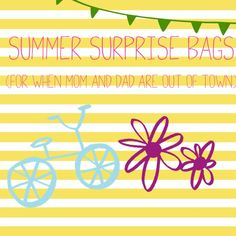 Fun Surprise bags for your kids when mom and dad are out of town. Kid Activites, Activities For Kids, Mom And Dad, Dads, Fun, Travel, Viajes, Children Activities, Fathers