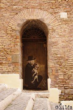 Door in Rome, Italy - by Zilda