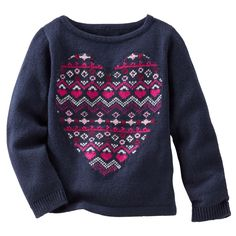 Neon Fair Isle Heart Sweater
