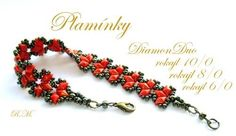 Flames Bracelet / Earrings Pattern | Bead-Patterns - with diamond duo beads