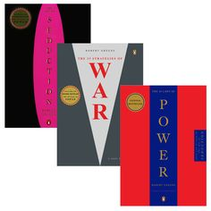 Robert Greene 3 Pack, $45, now featured on Fab. 48 laws of power, The 33 Strategies of War and The Art of Seduction.