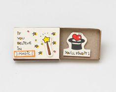 Cute Fun Encouragement Card Matchbox/ Gift box / by 3XUdesign