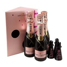 Moet & Chandon Rosé - Miniature Champagne Gift Set - Oh! I would love to have one of these!!