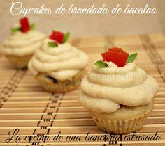 CUPCAKES DE BRANDADA DE BACALAO