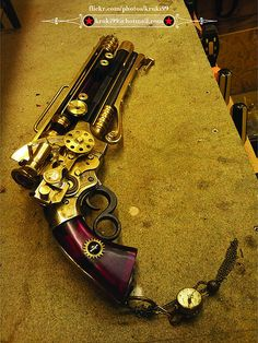 Steampunk Pistol by Dave Crook. Link Above This...!!!
