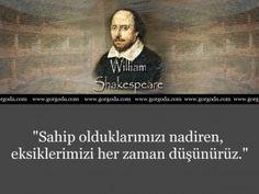 William Shakespeare Ünlü Sözleri