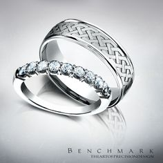 Follow @benchmarkrings to see more content!  #benchmarkretailer #benchmarkwk3  Style #: (L to R) 5925344 & RECF846361.