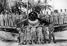 "Marine squadron VMF-214 – the ""Black Sheep""."