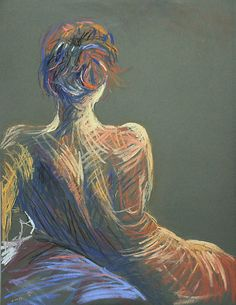 """""""Red Head"""" pastel drawing by ochre67."""