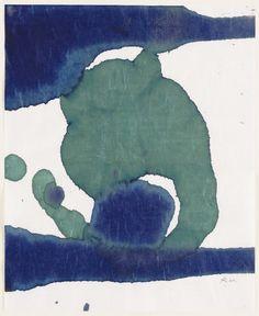 """steryios-mal:  """" Robert Motherwell  American, 1915–1991  Sans titre, dans la série Suite lyrique (1965)  Encre sur papier mûrier japonais  """""""