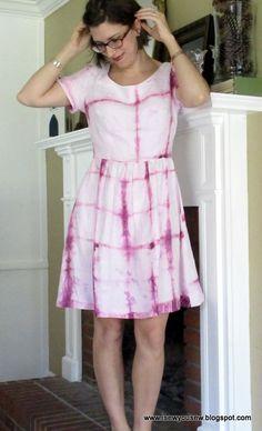 Shibori Emery Summer Dress by Elizabeth | Project | Sewing | Dyeing / Dresses | Kollabora