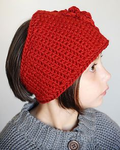 Trendy Chunky Headwrap Pattern (Permission to sell all finished products). $4.99, via Etsy.