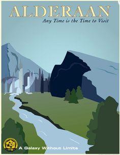 Star Wars Travel Poster: Alderaan