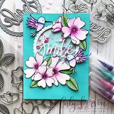 Pretty Pink Posh – Wild Rose Shaker Card – Caly Person