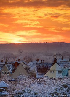 Winter sunset - Oxford, England