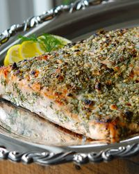 Broiled Salmon with Blue Cheese, Lemon and Dill Recipe on Food & Wine