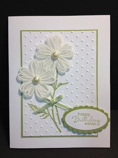 Field Flowers Meets Flower Shop Birthday Card Stampin Up Rubber Stamping Handmade Cards